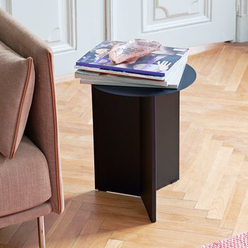 [주문 후 3개월 소요] Slit Table Round High Black