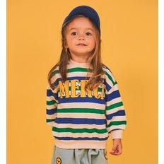 Multi stripe merci baby loose fit sweatshirts