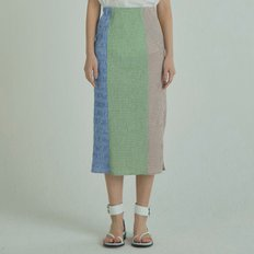 Check Wrinkle Skirt - Green