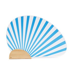 RO Bamboo Paper Fan Blue