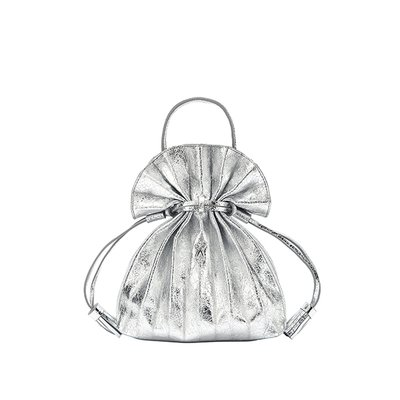 Lucky Pleats Crossbag Cracked Silver (0JSK2CB40101F)