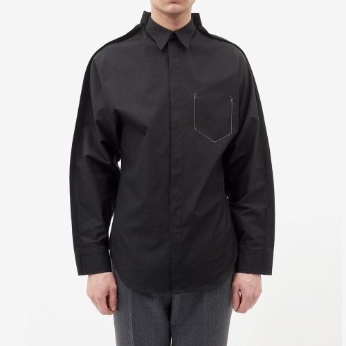 [MAISON MARGIELA/메종마르지엘라] STITCH POCKET EFFECT SHIRT BLACK S30DL0436 S43001 900