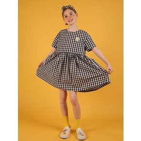 [40% sale] Icebiscuit daisy check dress with oversize pocket