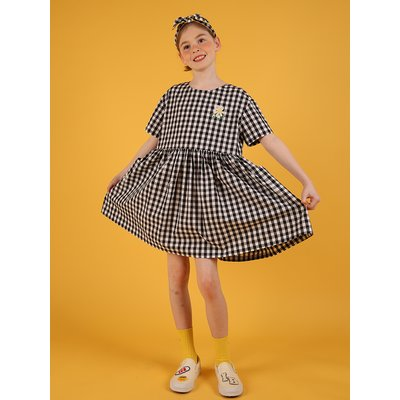 [30% sale] Icebiscuit daisy check dress with oversize pocket