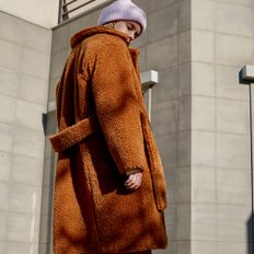 [레이브] Quilted Teddy Bear Coat (Brown)_VW8WH0090