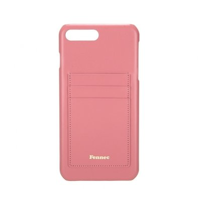 [A LAND]Fennec Leather iPhone7+/8+ Card Case - Rose Pink