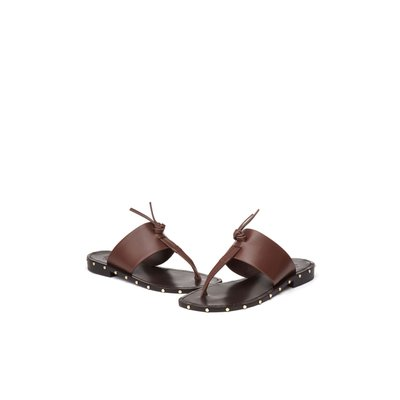 Natural flip-flop sandal(brown) DG2AM20059BRN-K