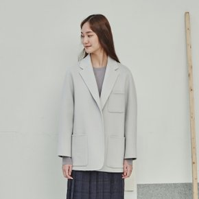 WARM GREY CASHMERE BLEND REVERSIBLE JACKET