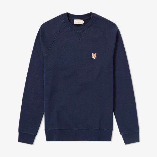 [PRE-ORDER] 20SS SWEATSHIRT FOX HEAD PATCH NAVY MEN AM00303KM0001