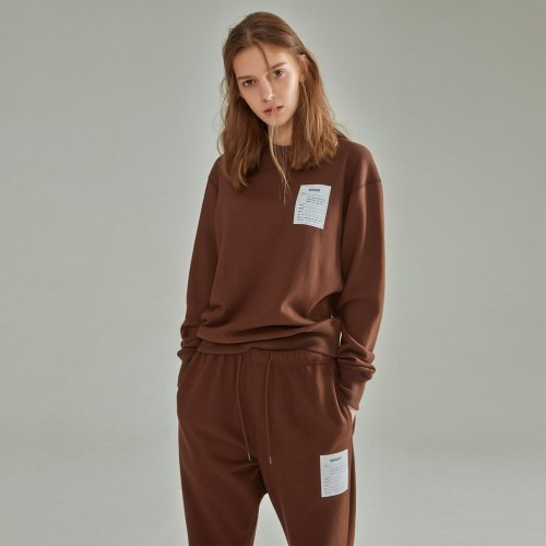 [NOHANT] NAME LABEL SWEATSHIRT BROWN