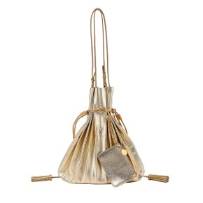 Lucky Pleats Shopper Cracked Gold (JSH1SH40103F)