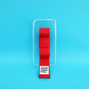 SUN CASE RIBBON CLEAR RED (JELLY CASE)