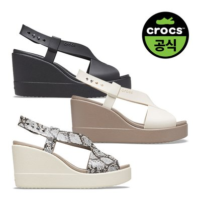 크록스공식 여성 CROCS BROOKLYN HIGH WEDGE W 3종 택1 (20SWWD206222)