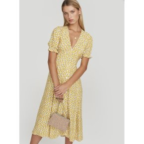 Faithfull The Brand ARI MIDI DRESS_YELLOW