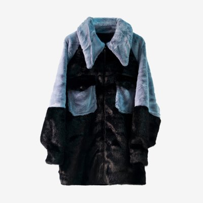 TOO COOL FOR FUR 투쿨포퍼 RENATA JACKET 022 BLUE/BLACK