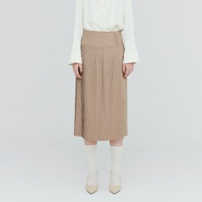 [가브리엘리] 19FW PLEATED HIGH-WAISTED MIDI SKIRT - SAND