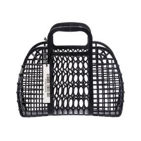 PLASTIC MARKET BAG S Black