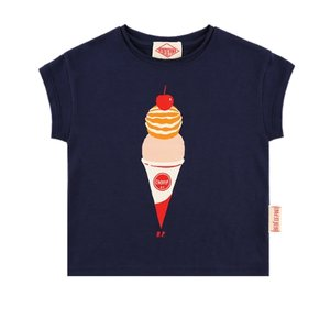 Double ice cream cone baby short sleeve tee
