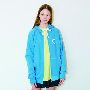 Logo Zip-Up Hoody (Blue)
