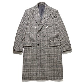[black label] check piercing detail double coat CLCAW17732GYX