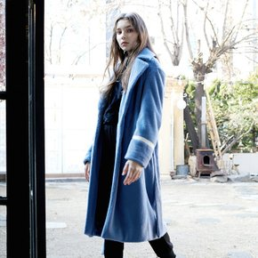 [준바이준케이]Eco Fur Mink Long Coat Blue (3688143)