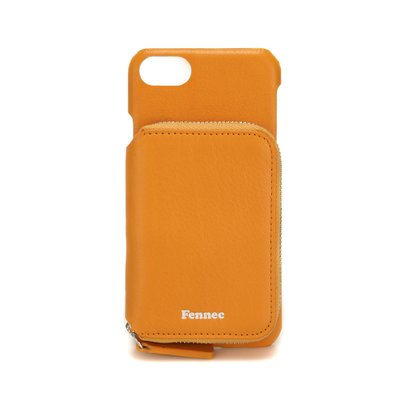 FENNEC LEATHER iPHONE 7/8 MINI POCKET CASE - MANDARIN