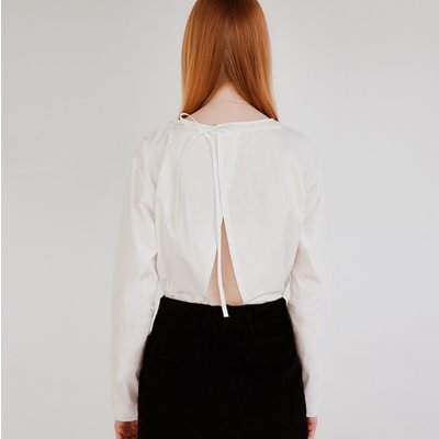 BACK ROPE BLOUSE (IVORY)