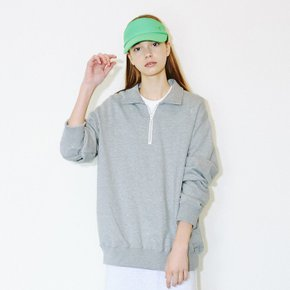 Basic Half-Zip Sweatshirts (Grey)