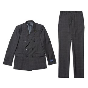 angelico check wool double suit_CWFBW19754GYX_CWFCW19754GYX