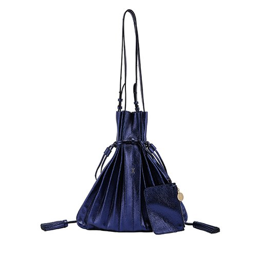 Lucky Pleats Shopper Cracked Blue (JSH1SH40104F)
