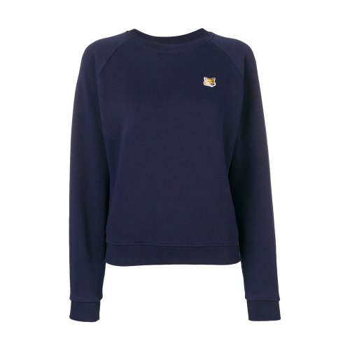 [PRE-ORDER] 20SS SWEATSHIRT FOX HEAD PATCH NAVY WOMEN AW00303KM0001