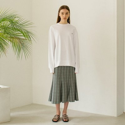 Check Flared Skirts - Grey