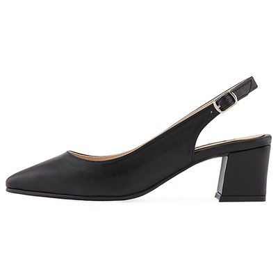 슬링백 MS9043 Slim square slingback 블랙