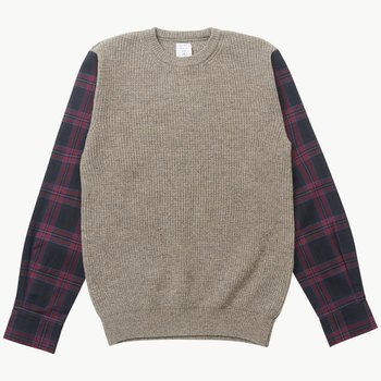 미스터젠틀맨 SHIRT SLEEVE KNIT GREIGE