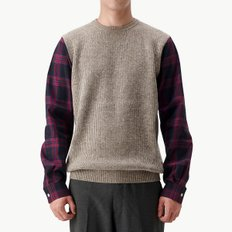 SHIRT SLEEVE KNIT GREIGE