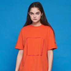 ANOTHER FRAME - A SQUARE T-SHIRT (ORANGE) 반팔티