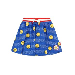 Smile Icebiscuit-printed jersey mini skirt