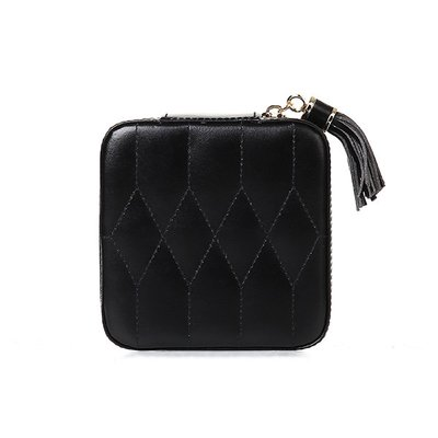 WOLF 울프 329971 Caroline Zip Case Black 보석함 Jewel Box