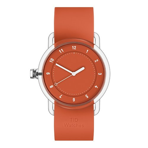 TID WATCHES 티아이디시계 No.3 TR90 Orange / Orange Silicone 38mm
