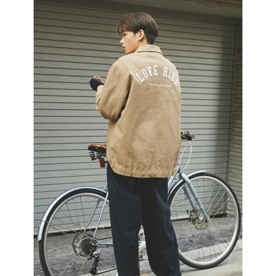 [BPS X STEREO VINYLS] Unisex 베이지 LOVE RIDE 코치 재킷 (BO0139WS1A)