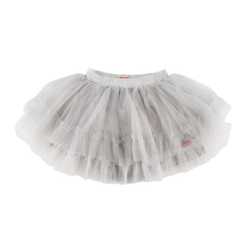 Cherry sparckling tiered tulle skirt