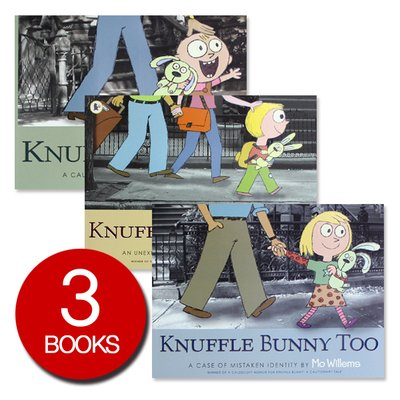 칼데콧 수상작 Knuffle Bunny 3 Books Collection