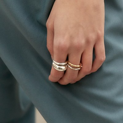 [레이브]Volume Layered Ring in Silver VX0SX0460