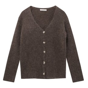 MINK V NECK CARDIGAN (BROWN) (N94KCB002)