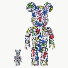 400+100% BEARBRICK KEITH HARING