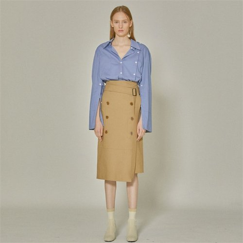 [MUSEE]Jeanne  belted cotton skirt _ Camel (1940985)