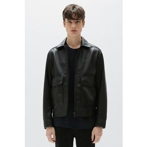 [PLAC] 남성 MEN`S LEATHER WINDBREAKER JACKET (PWON1LJR08M0C1)