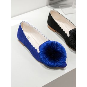 Pompom wave flat(black) DG1DX18520BLU