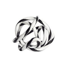 Knot No.2 S Black & white