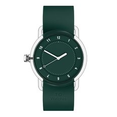 TID WATCHES 티아이디시계 No.3 TR90 Green / Green Silicone 38mm